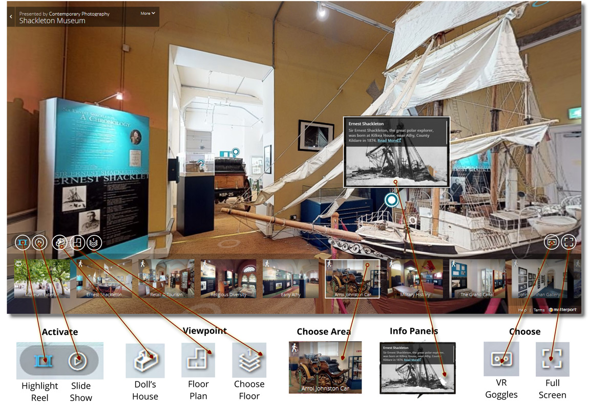 Features of 3D virtual tours